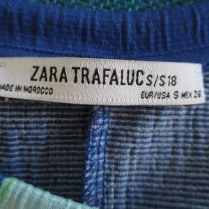 Zara Tops - Zara  Polka Dot S/S Asymmetrical Blouse SML